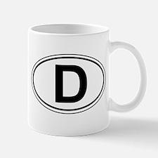 "Oval D ""Deutschland"" design Mug"