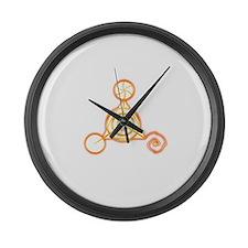 Tetrahedron Crop-Circle Large Wall Clock
