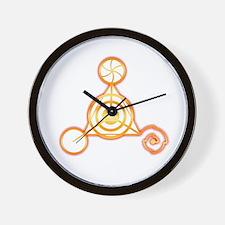 Tetrahedron Crop-Circle Wall Clock