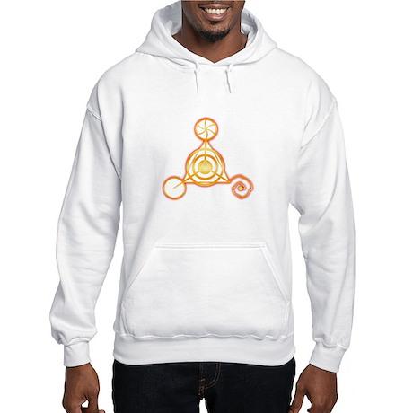 Tetrahedron Crop-Circle Hooded Sweatshirt