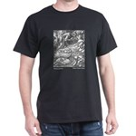 Crane's Sleeping Beauty Black T-Shirt