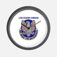 DUI - 11th Aviation Command with Text Wall Clock