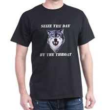 Seize the Day Courage Wolf T-Shirt
