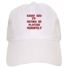 I'd rather be playing Monopoly Baseball Cap