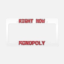 I'd rather be playing Monopoly License Plate Holde