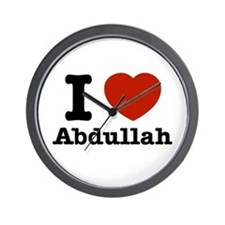 I love Abdullah Wall Clock