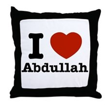 I love Abdullah Throw Pillow