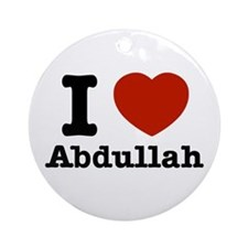 I love Abdullah Ornament (Round)