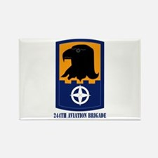 SSI - 244th Aviation Brigade with Text Rectangle M