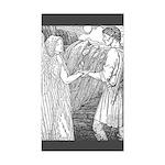 Batten's Swan Maidens Rectangle Sticker