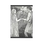 Batten's Swan Maidens Rectangle Magnet (10 pack)