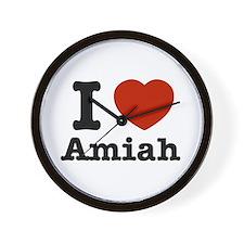 I love Amiah Wall Clock