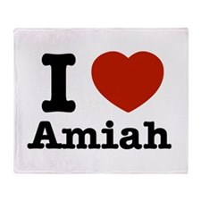 I love Amiah Throw Blanket