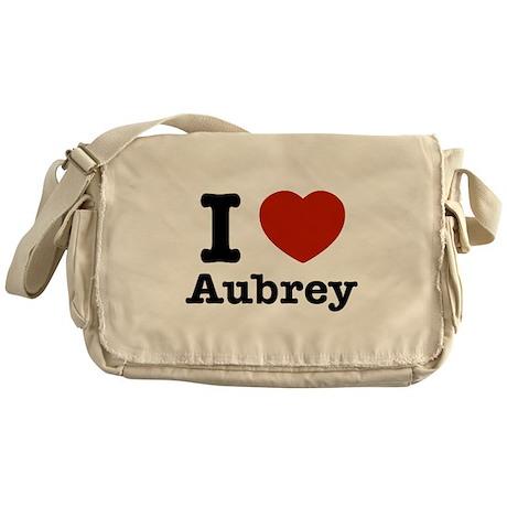 I love Aubrey Messenger Bag