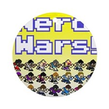 Nerd Wars 8-Bit with Backgrou Ornament (Round)