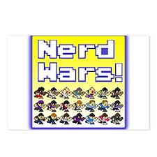 Nerd Wars 8-Bit with Backgrou Postcards (Package o