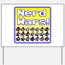 Nerd Wars 8-Bit with Backgrou Yard Sign