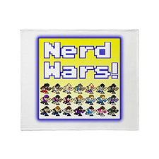 Nerd Wars 8-Bit with Backgrou Throw Blanket