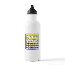 Nerd Wars 8-Bit with Backgrou Water Bottle