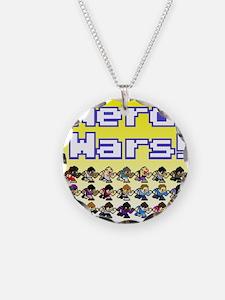 Nerd Wars 8-Bit with Backgrou Necklace