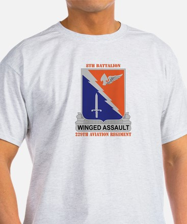 DUI - 8-229th Aviation Regiment with Text T-Shirt