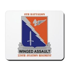 DUI - 8-229th Aviation Regiment with Text Mousepad
