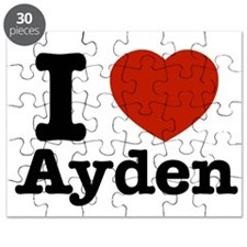 I love Ayden Puzzle