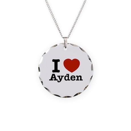 I love Ayden Necklace Circle Charm
