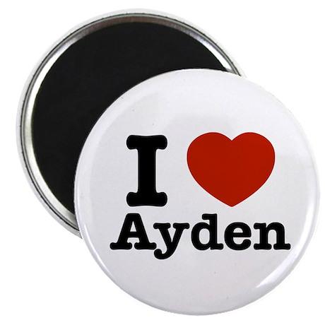 """I love Ayden 2.25"""" Magnet (100 pack)"""