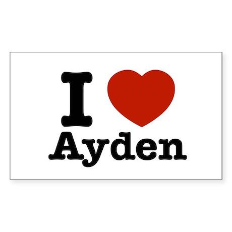 I love Ayden Sticker (Rectangle)