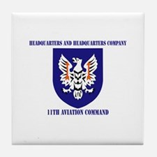 SSI - HHC-11th Aviation Command with text Tile Coa