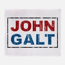 John Galt Throw Blanket