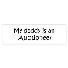 Daddy: Auctioneer Bumper Car Sticker