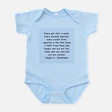 dwight eisenhower Infant Bodysuit