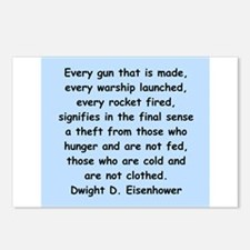 dwight eisenhower Postcards (Package of 8)