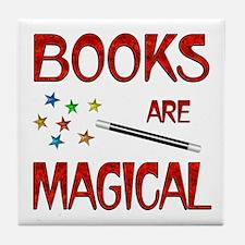 Books are Magical Tile Coaster