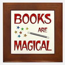 Books are Magical Framed Tile
