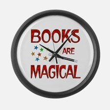 Books are Magical Large Wall Clock