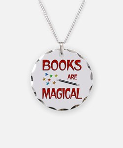 Books are Magical Necklace Circle Charm