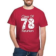Class Of 1978 Reunion T-Shirt