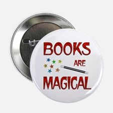 """Books are Magical 2.25"""" Button (100 pack)"""