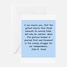 john hood quotes Greeting Card
