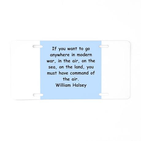 william bull halsey Aluminum License Plate