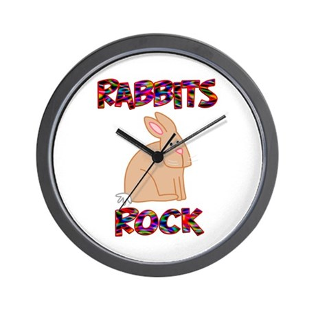 Rabbits Rock Wall Clock