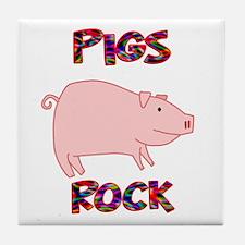 Pigs Rock Tile Coaster