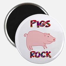 "Pigs Rock 2.25"" Magnet (10 pack)"
