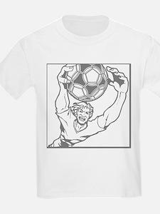 Soccer Goal Keeper. Gray. T-Shirt
