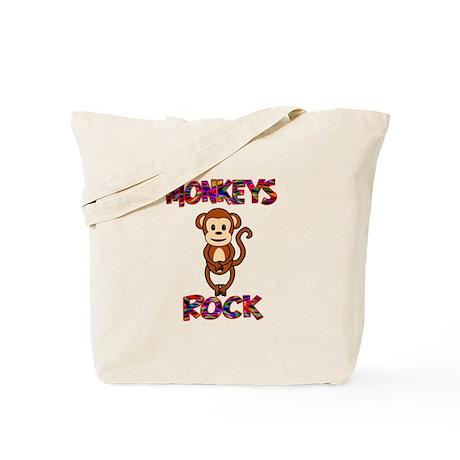 Monkeys Rock Tote Bag