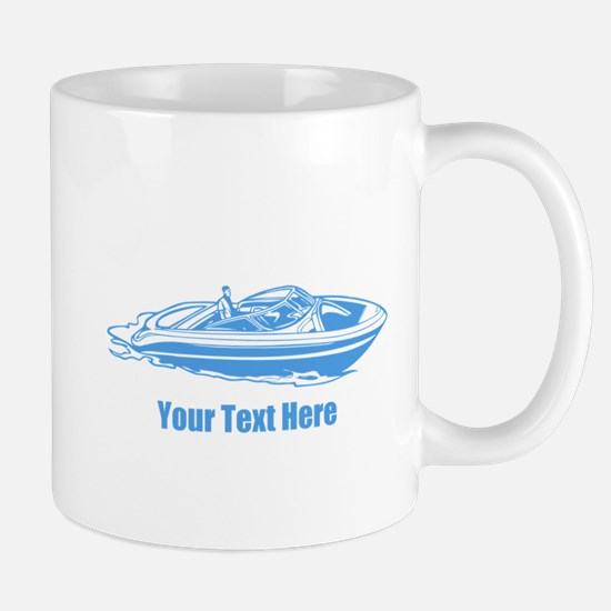 Motorboat. Add Your Text. Mug