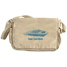 Motorboat. Add Your Text. Messenger Bag